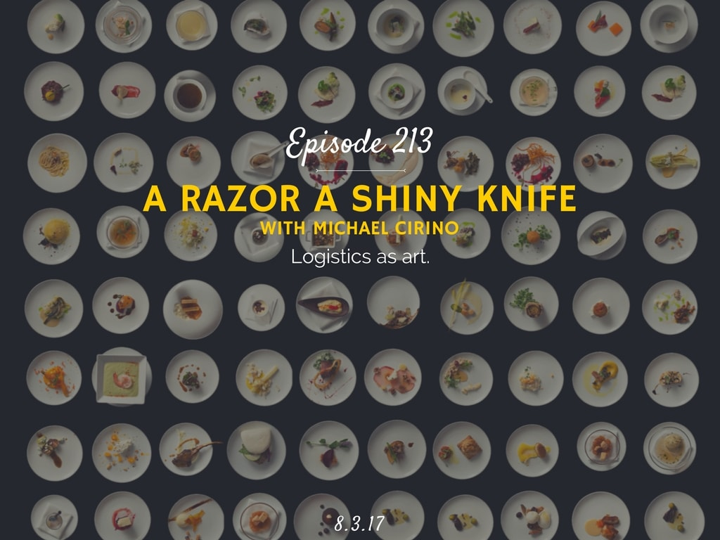 a razor a shiny knife podcast interview with michael cirino