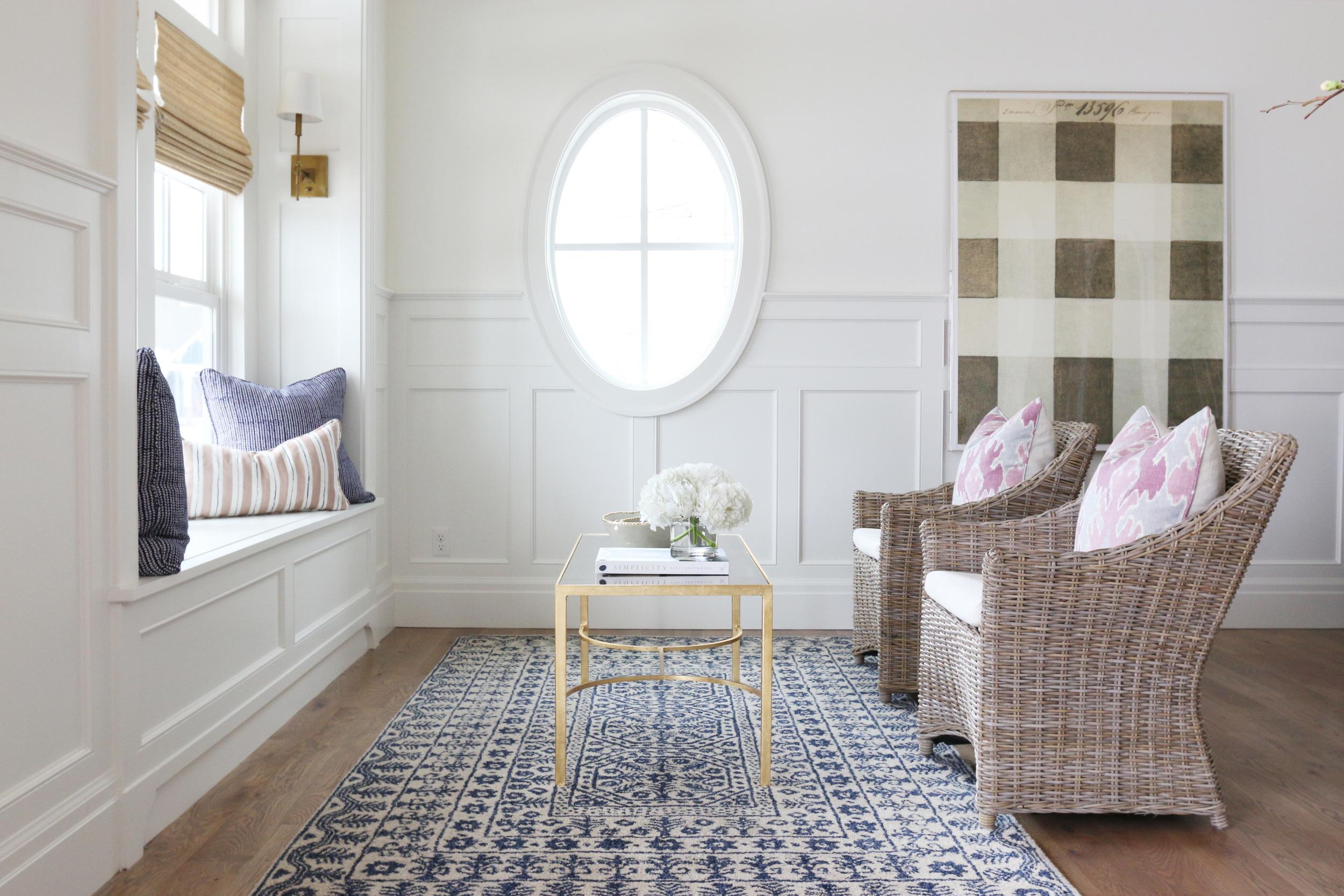 Window Seat and Oval Window || Studio McGee
