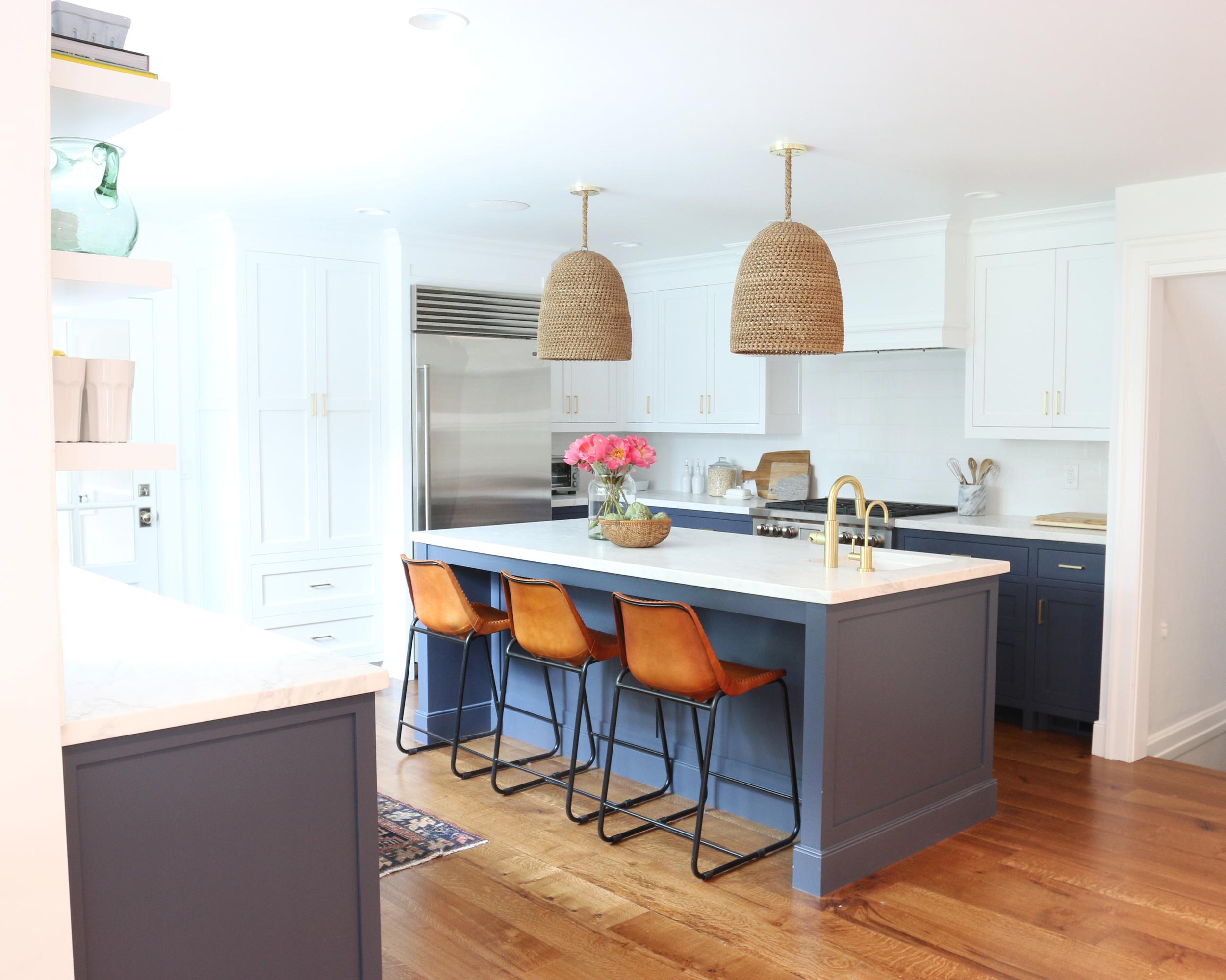 Navy, White and Brass Kitchen || Studio McGee