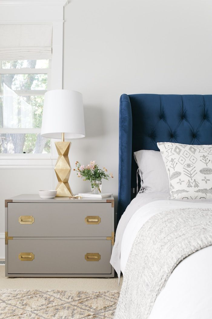 Favorite ways to pair navy & gold || Design by Emily Henderson