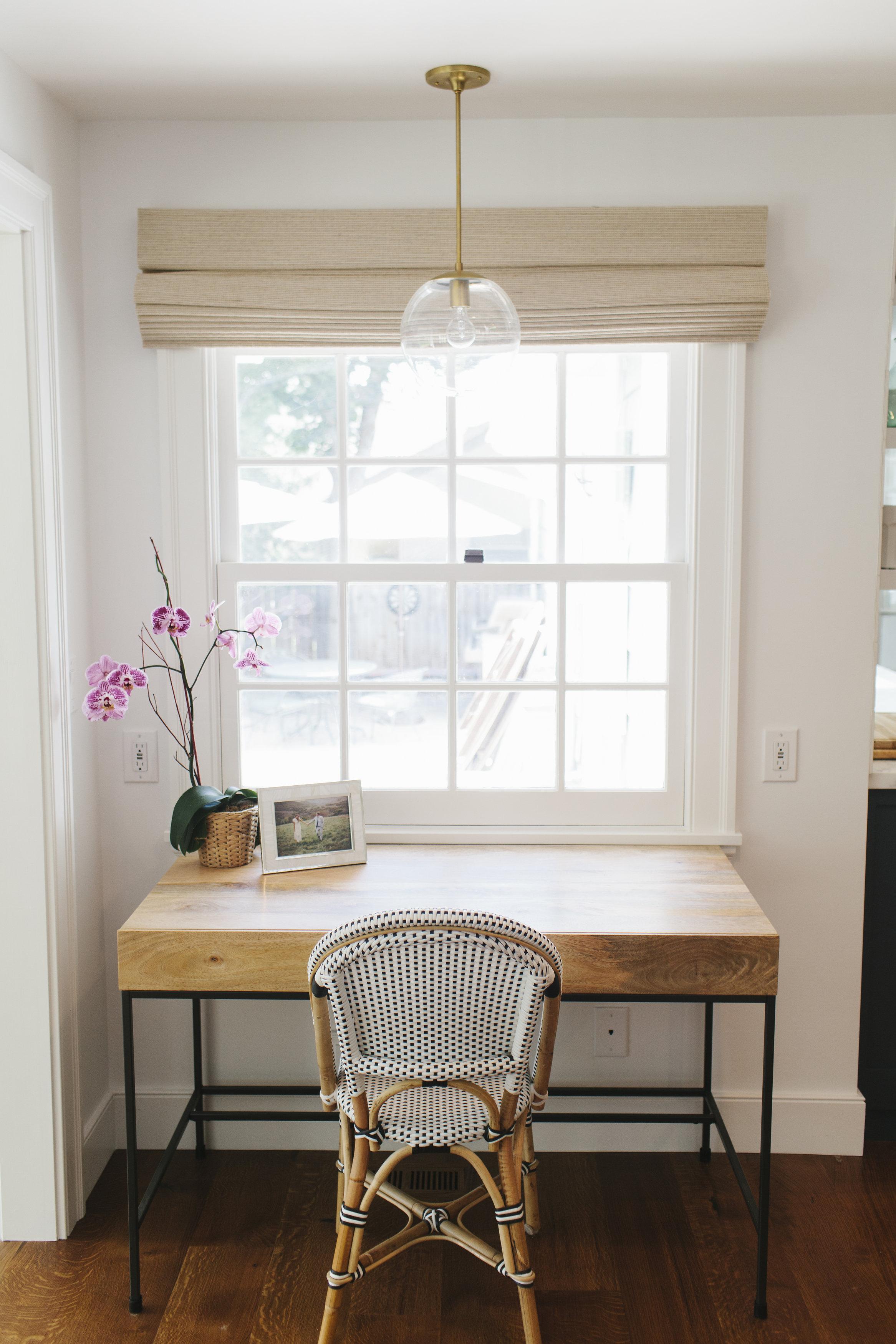 Desk in the kitchen || Studio McGee