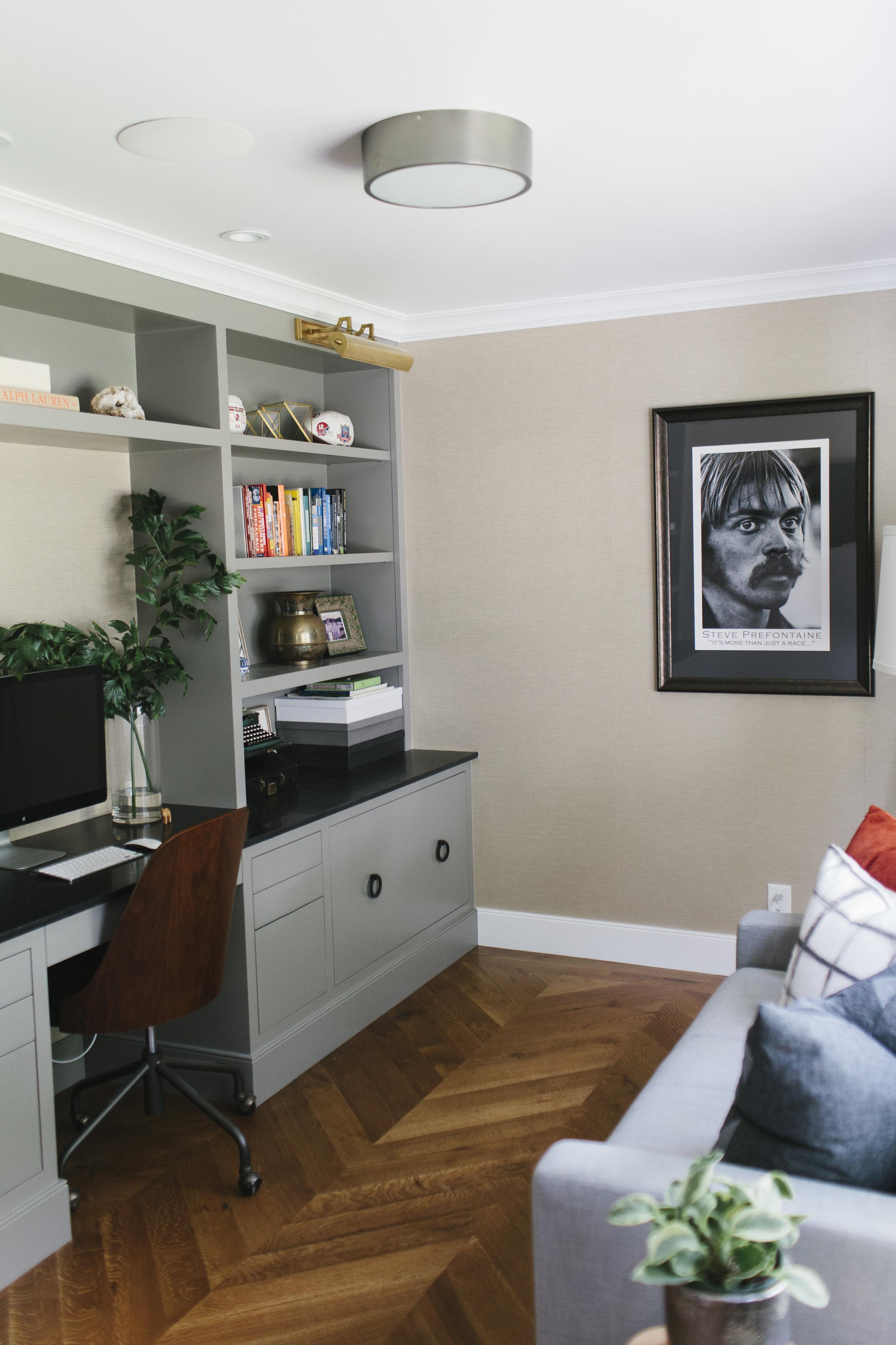 "Benjamin Moore ""Chelsea Gray"" Built-In and Chevron Floors || Studio McGee"