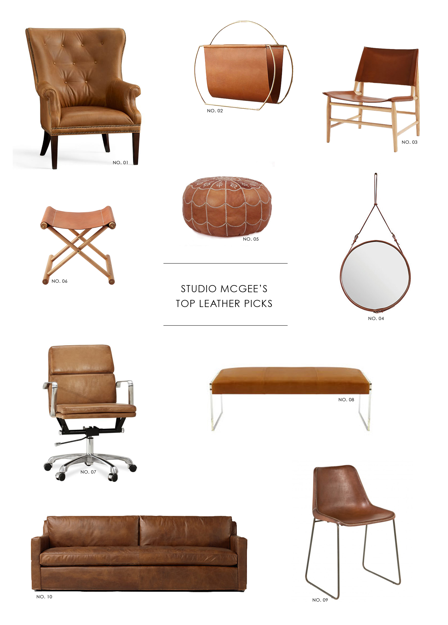 Why it works: leather accents || Studio McGee