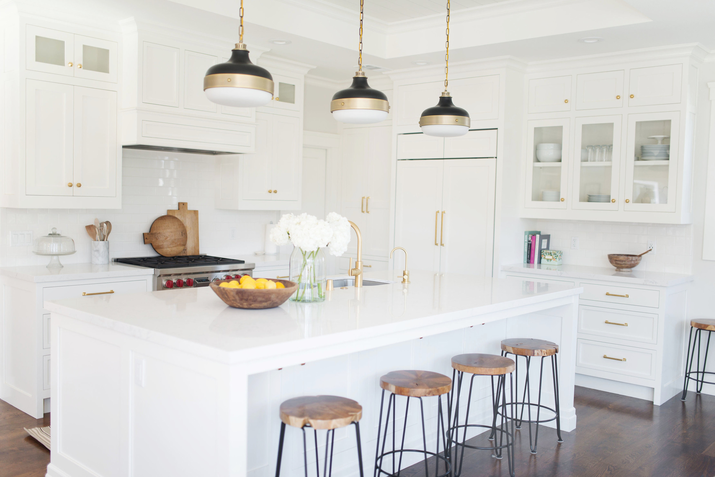 White and Gold Kitchen E-Design by Studio McGee