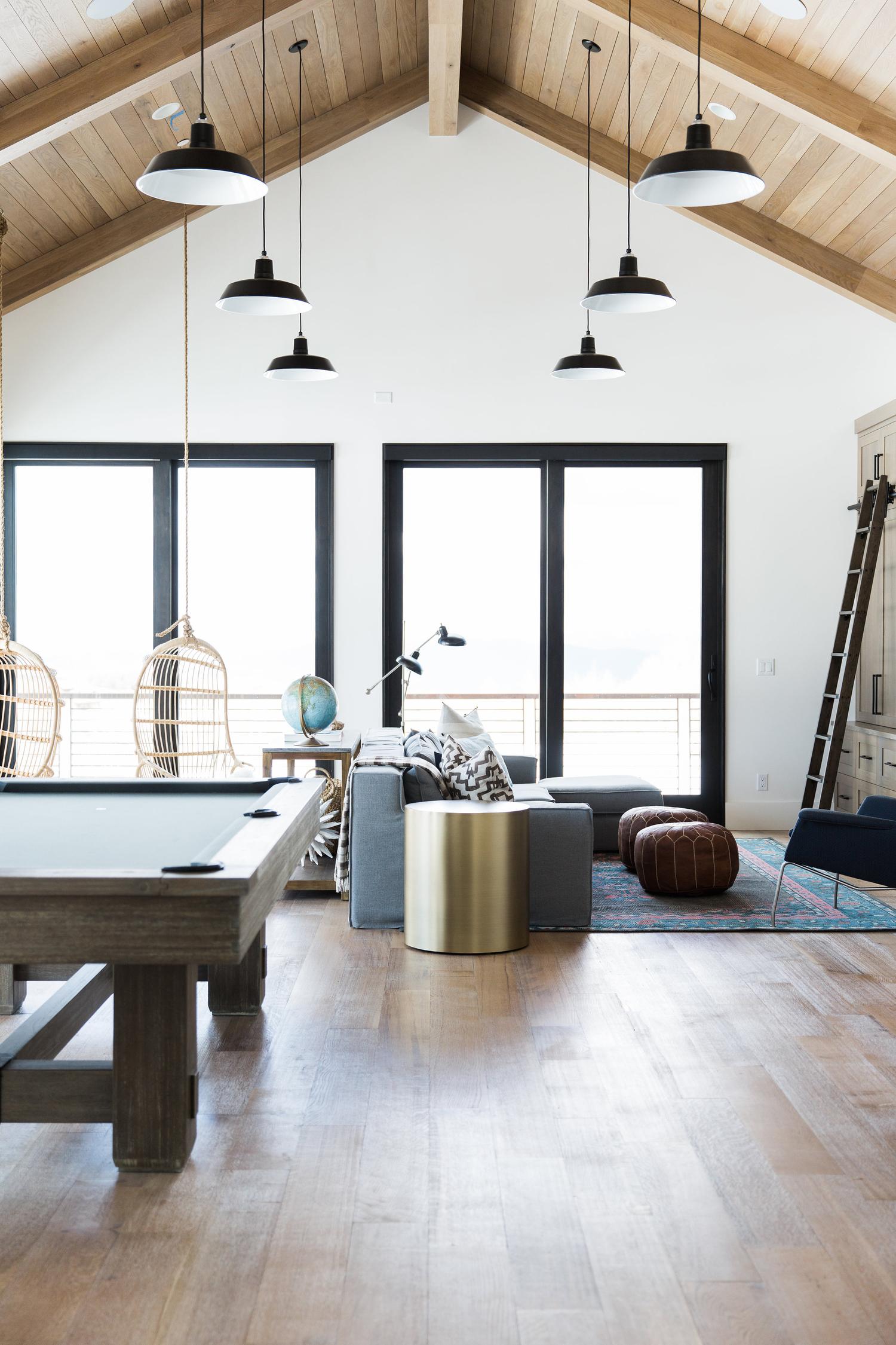 Bonus room in modern mountain home