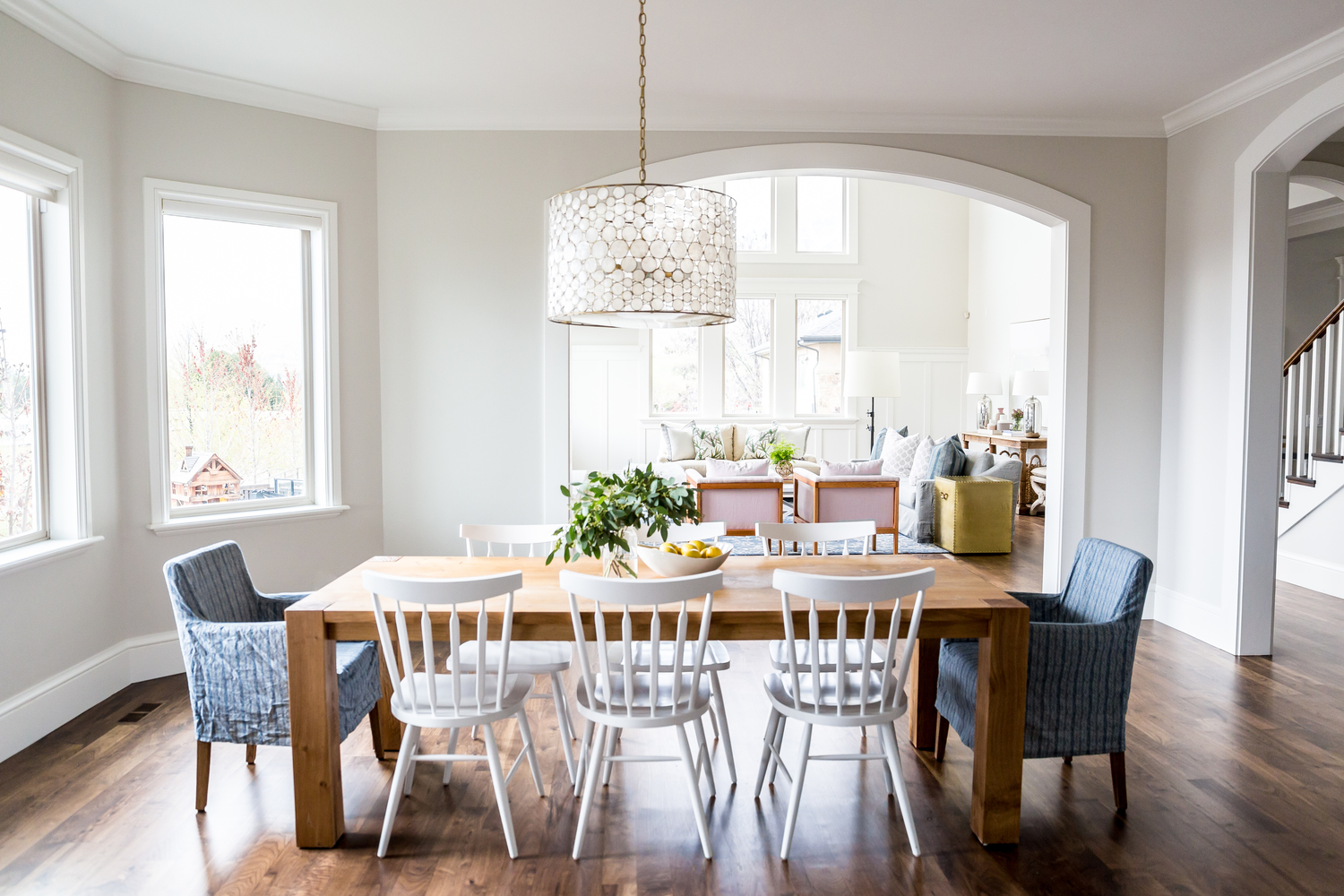 Full view of kitchen table in dining area