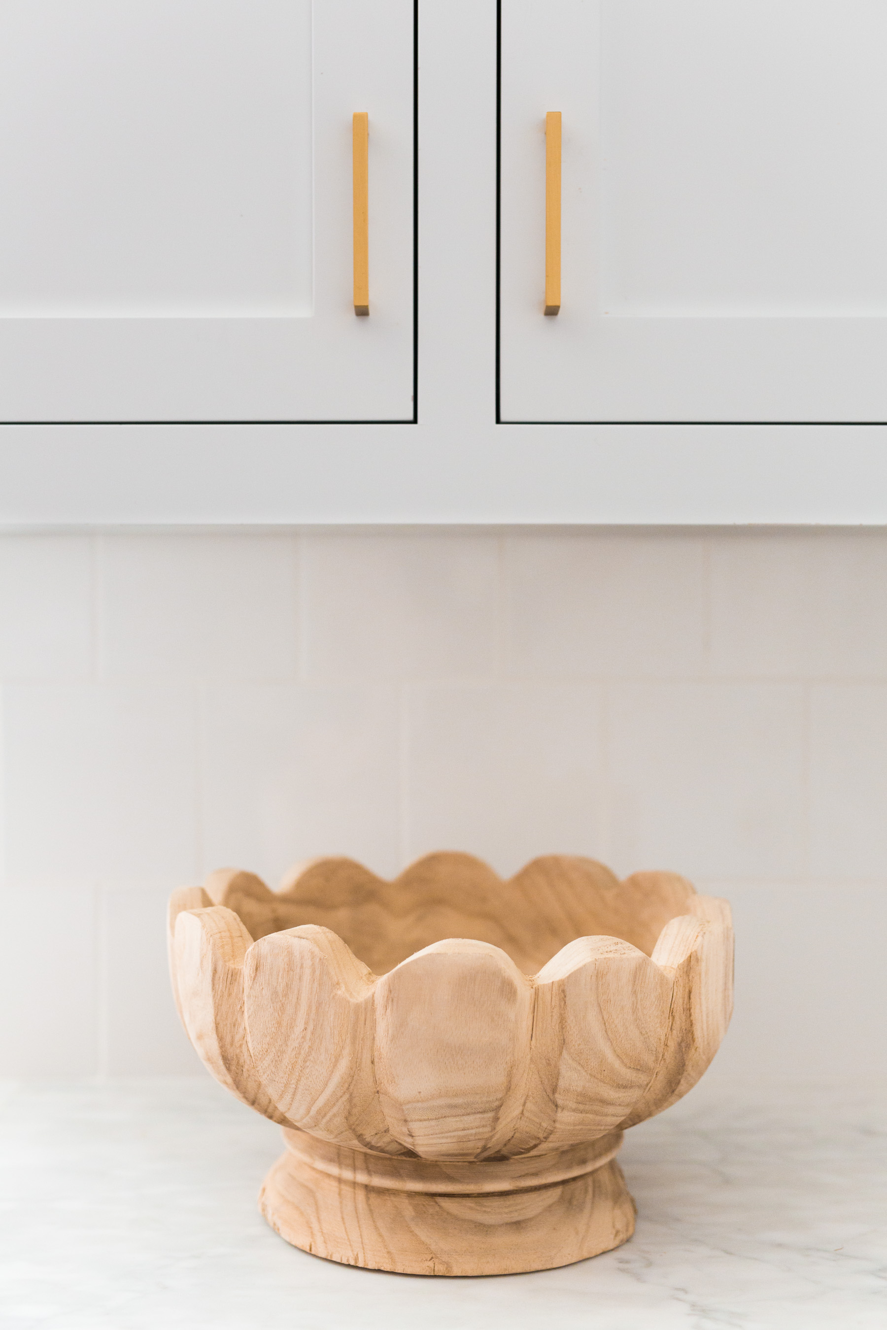 McGee & Co. Wooden Lotus Bowl