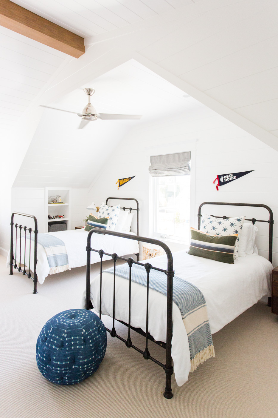 Boys' room with twin iron beds || Studio McGee