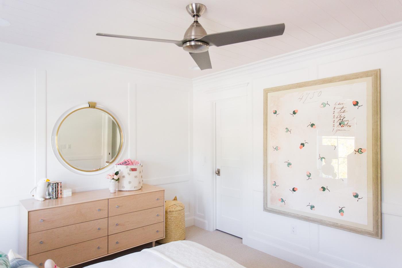 Modern white bedroom for a little girl
