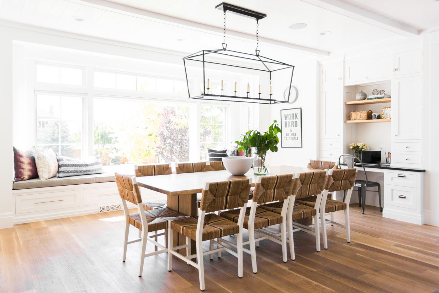 Full length of modern dining table