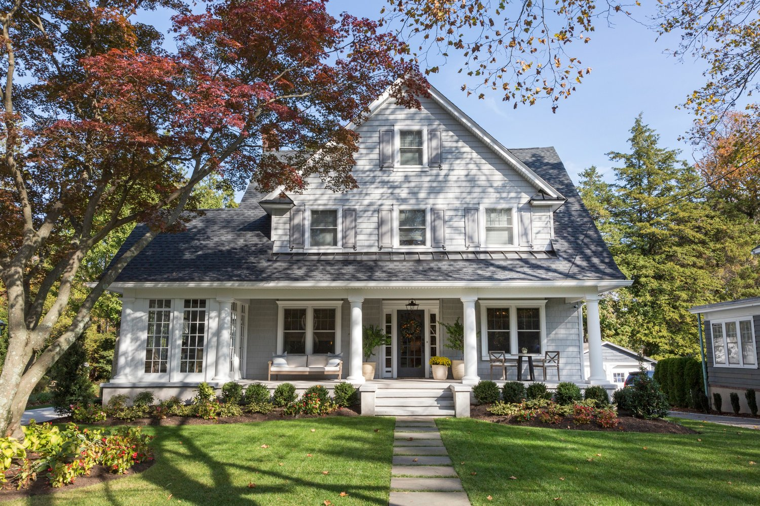 Renovated exterior of haddonfield project