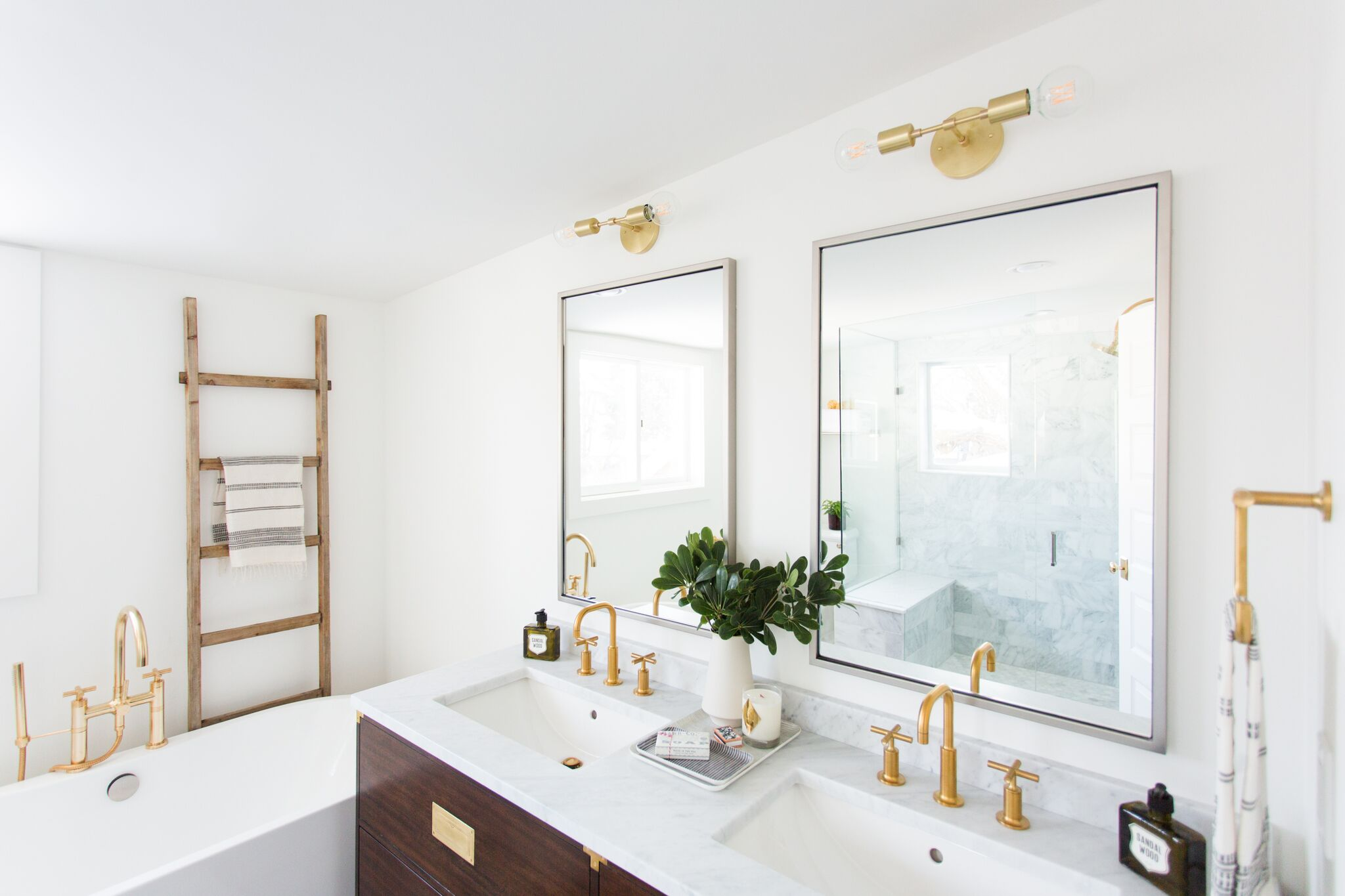 Modern bathroom in U-Street home
