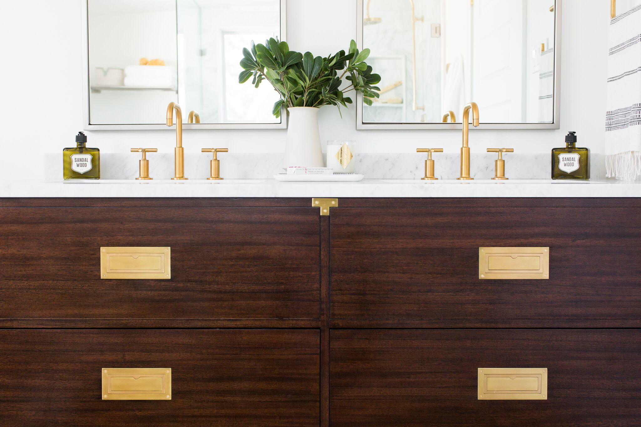 Top drawer of bathroom vanity