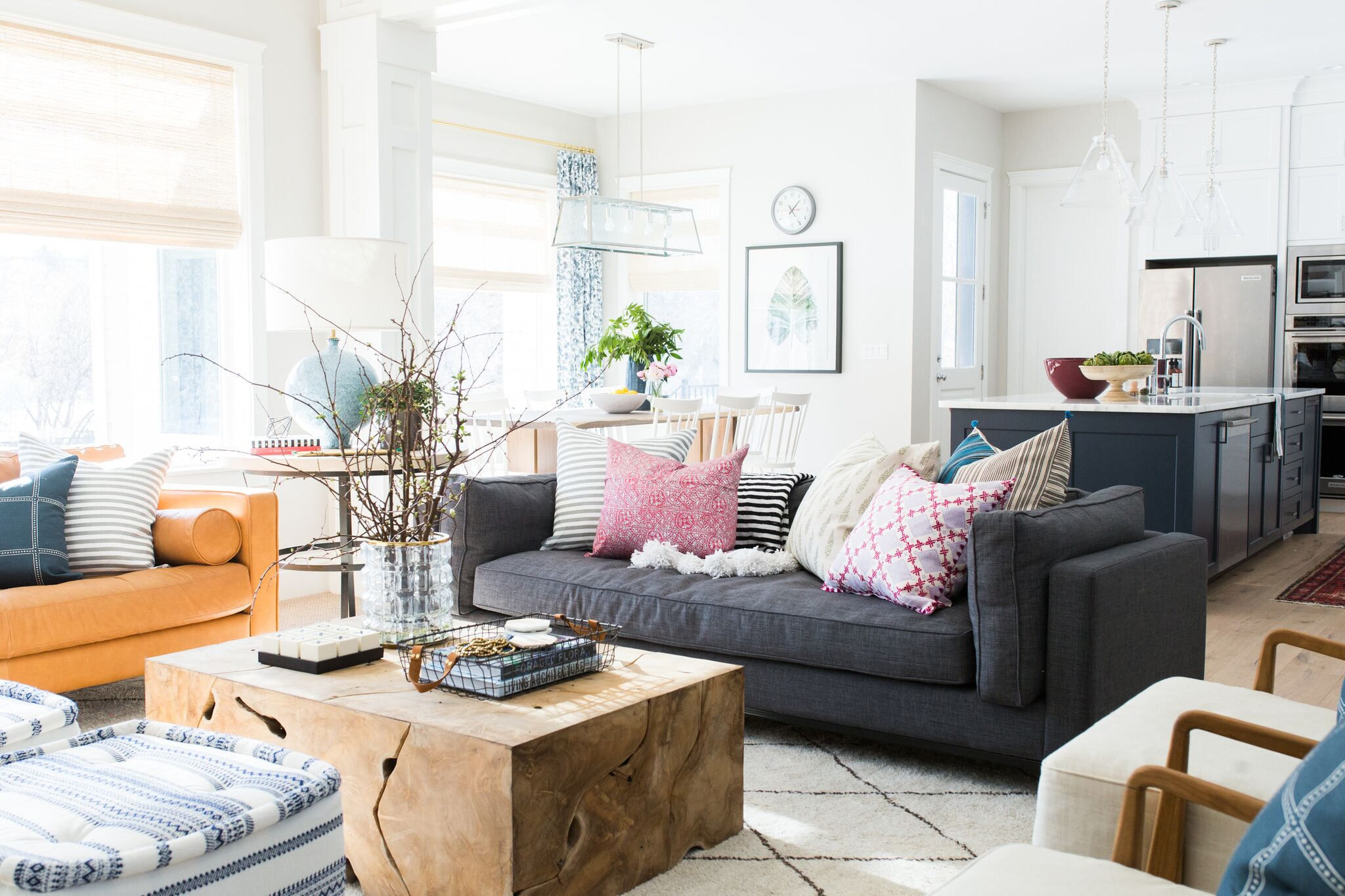 Modern living room on cove street