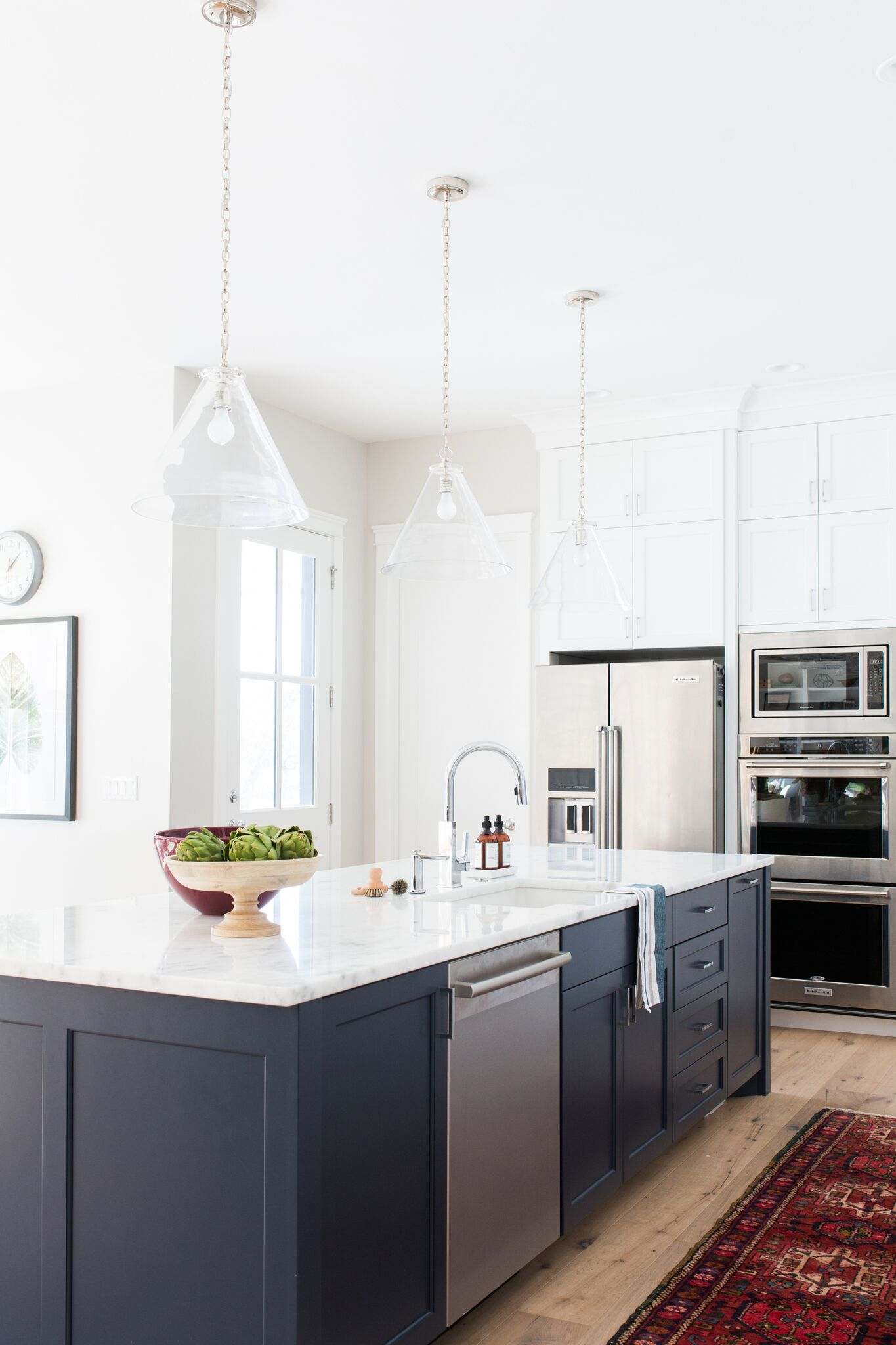 Modern kitchen island in cove street home