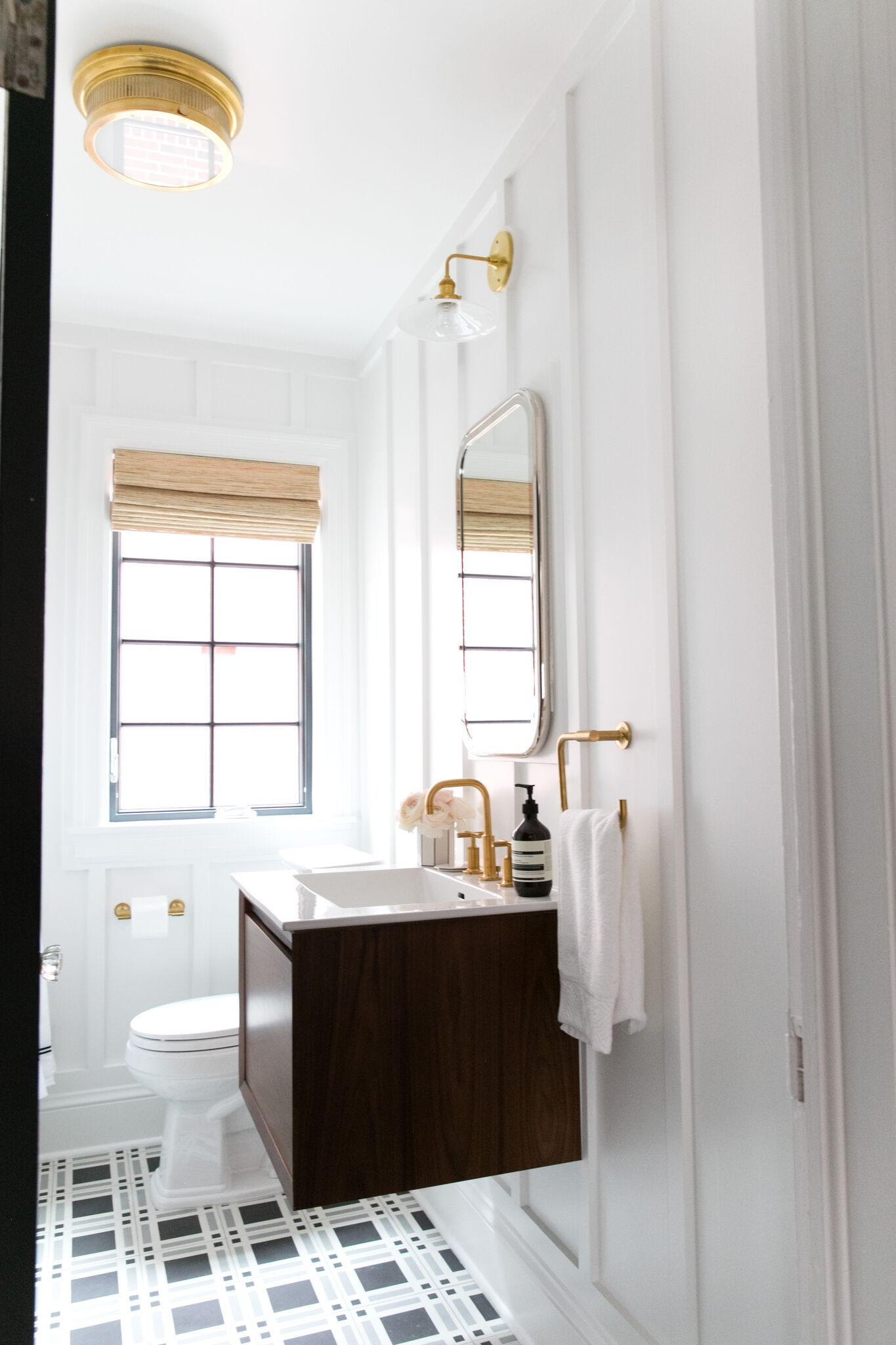 Guest bathroom with modern features