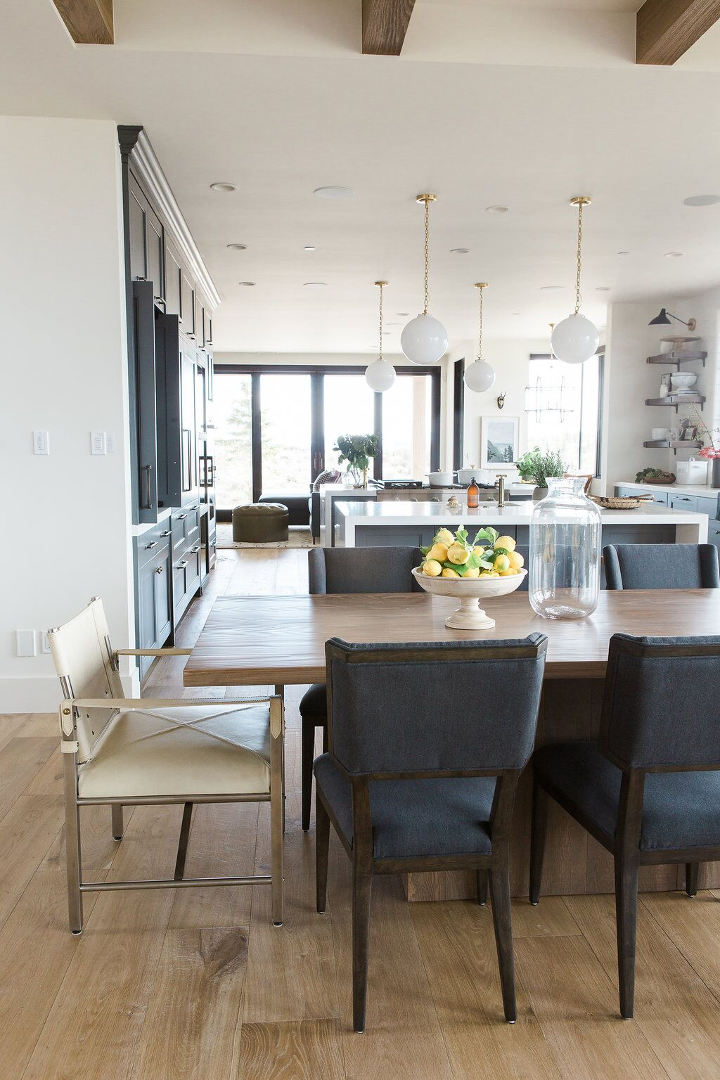 Modern mountain home dining area