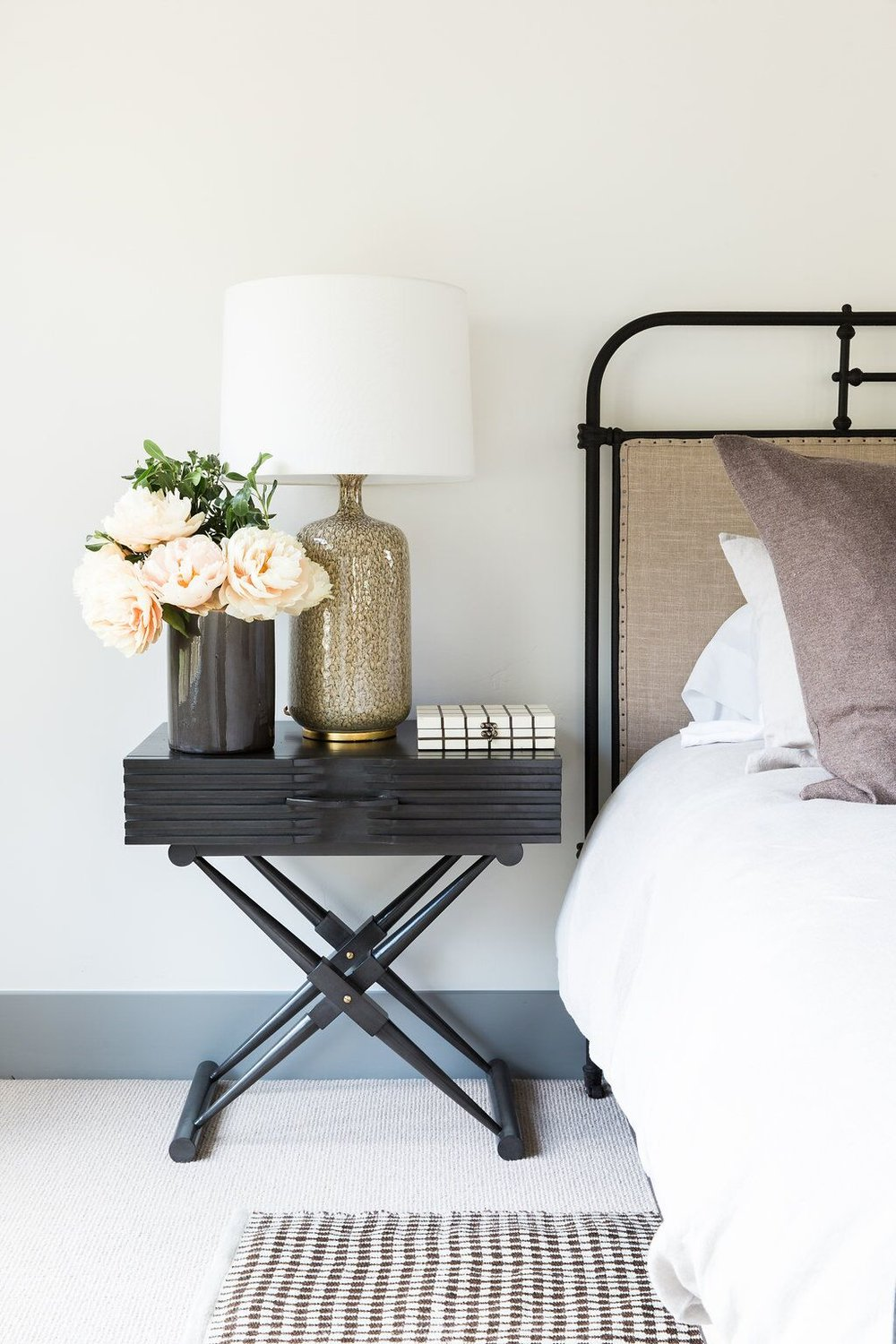 Zane Side Table  +  Culloden Table Lamp  in our  Park City Canyons Remodel