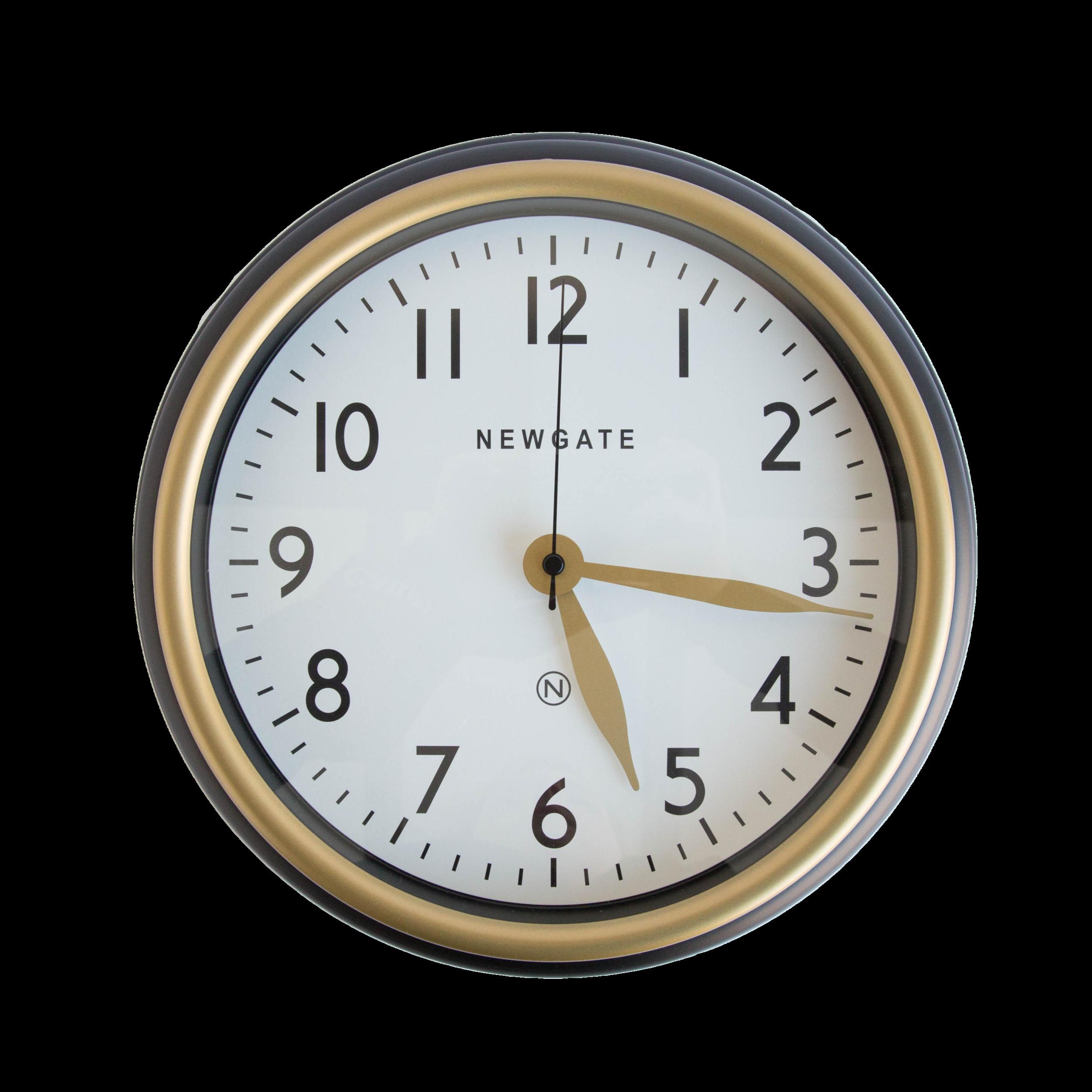 Norfolk Clock in Black  ( also available in mini )