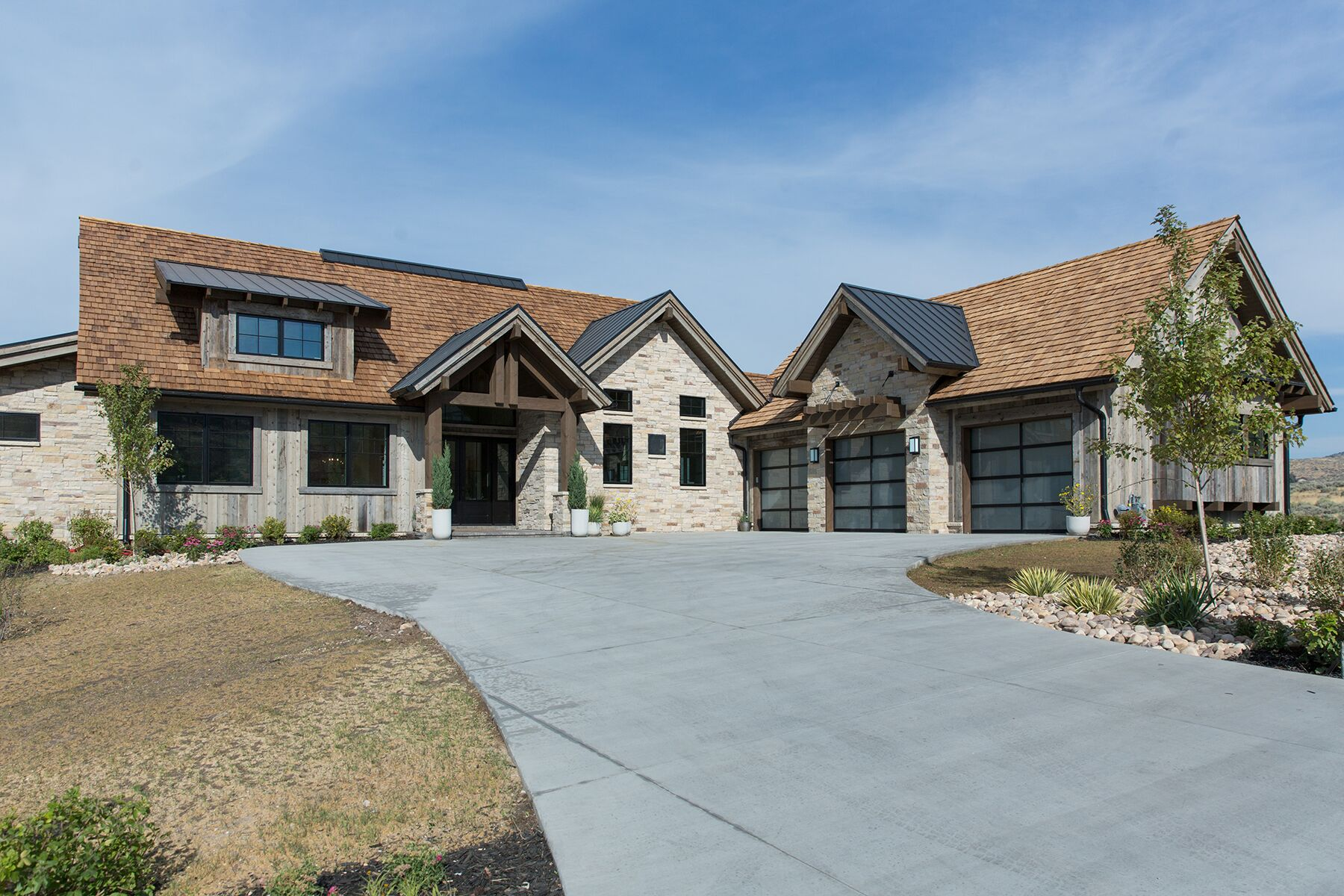 Mountain home exterior in Park City, Utah - Studio McGee Design