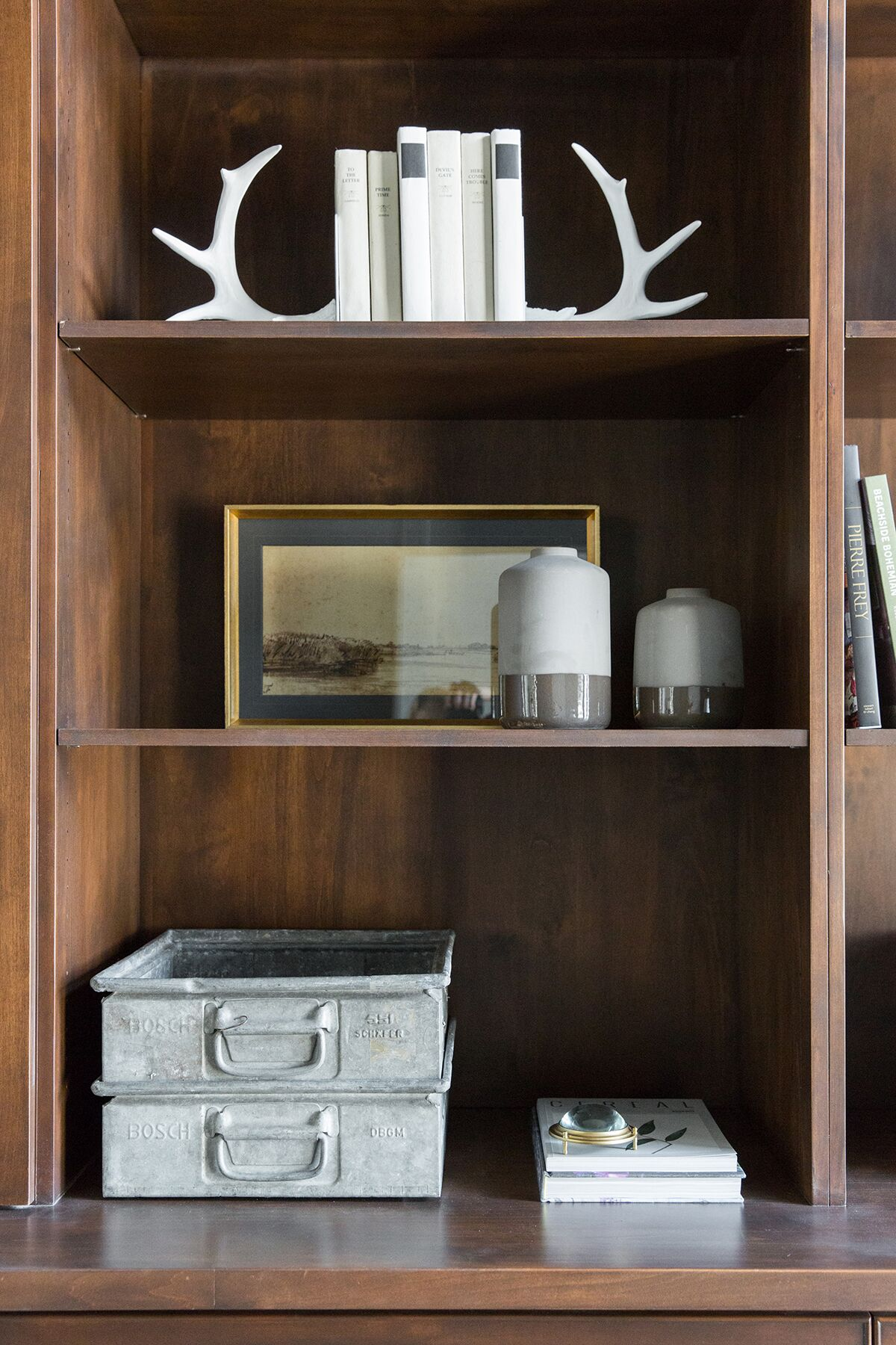 Dark built-in styling in moody mountain office - Studio McGee Design