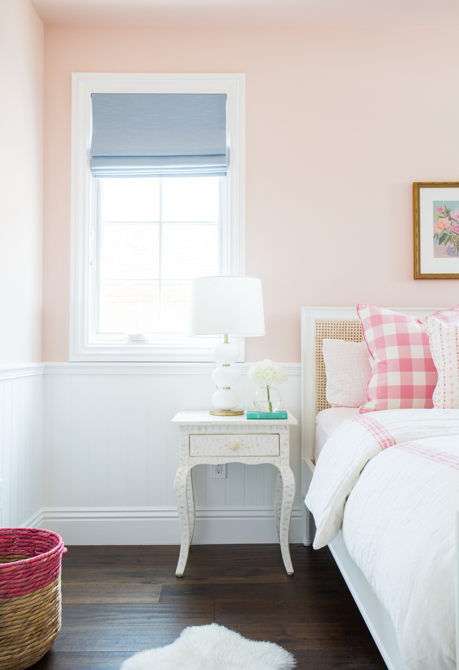 Coral and pink little girl's room by Studio McGee