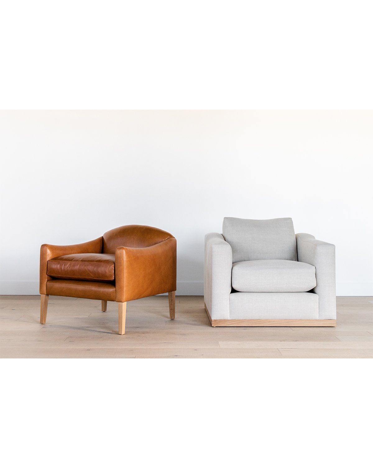 Linder Leather Arm Chair  ,   Vernon Arm Chair