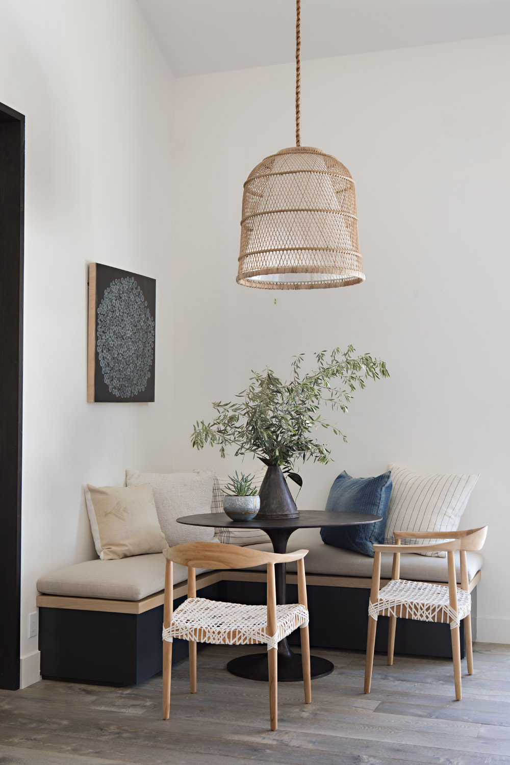 Design by Shannon Wilkins of  Prairie / Architecture by  Eric Olsen Design  via  Rue Mag