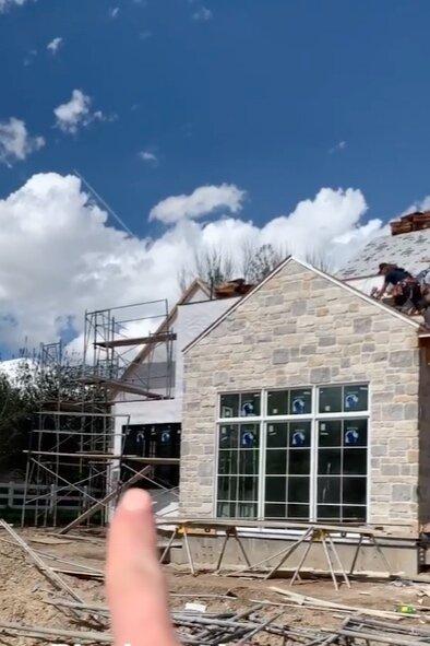 McGee home mudroom progress.