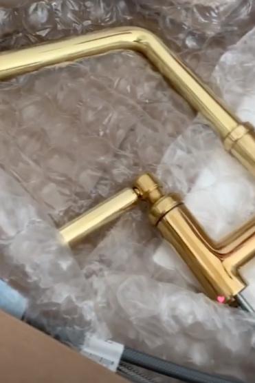 Kallista Faucet  in unlacquared brass.