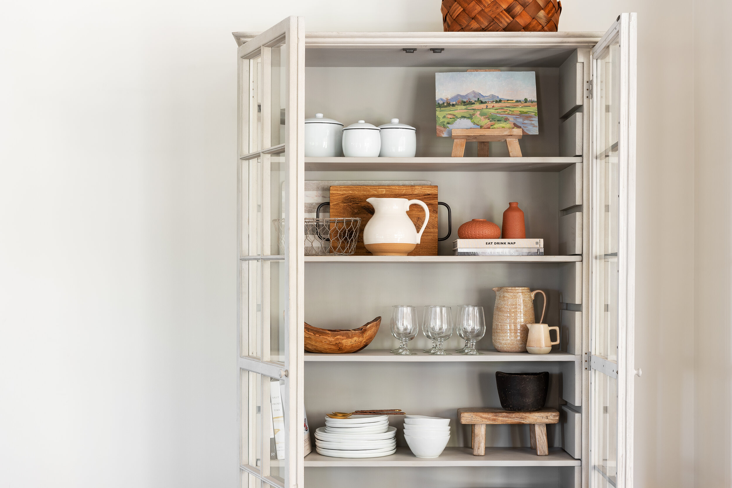 Kitchen Hutch Cabinets Styling Tips
