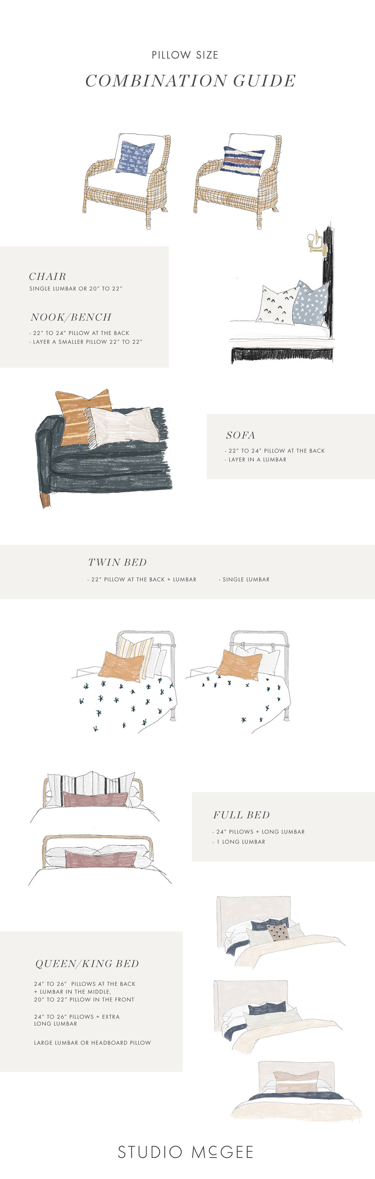 The Pillow Size Guide Studio Mcgee