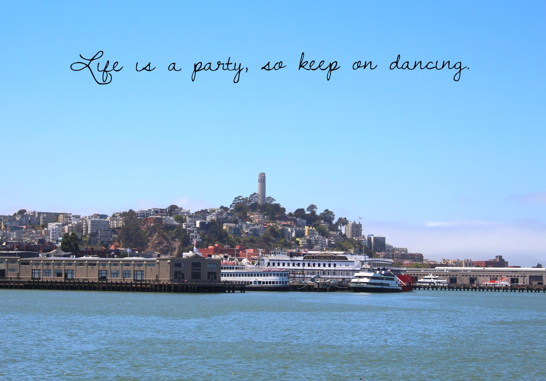 Original photo taken of Coit Tower, San Francisco.