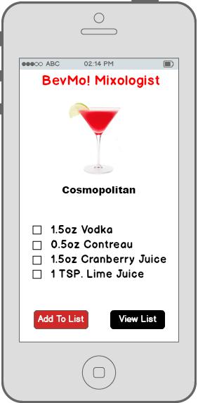 BevMo! Mixologist drink idea recepe
