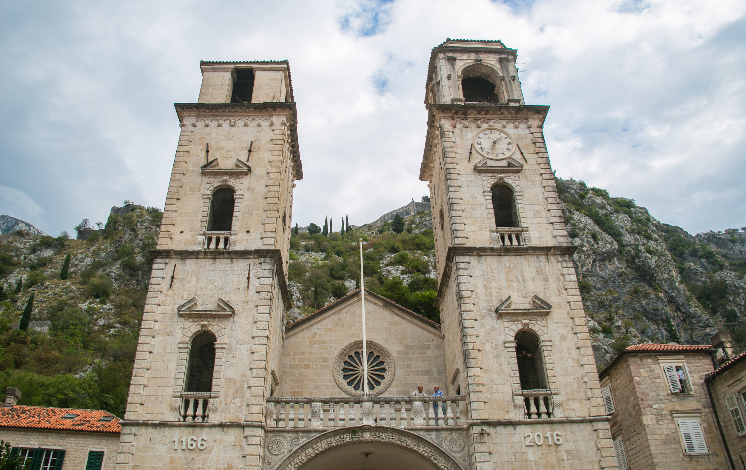 A beautiful church in the center of Old Town in Kotor, Montenegro.