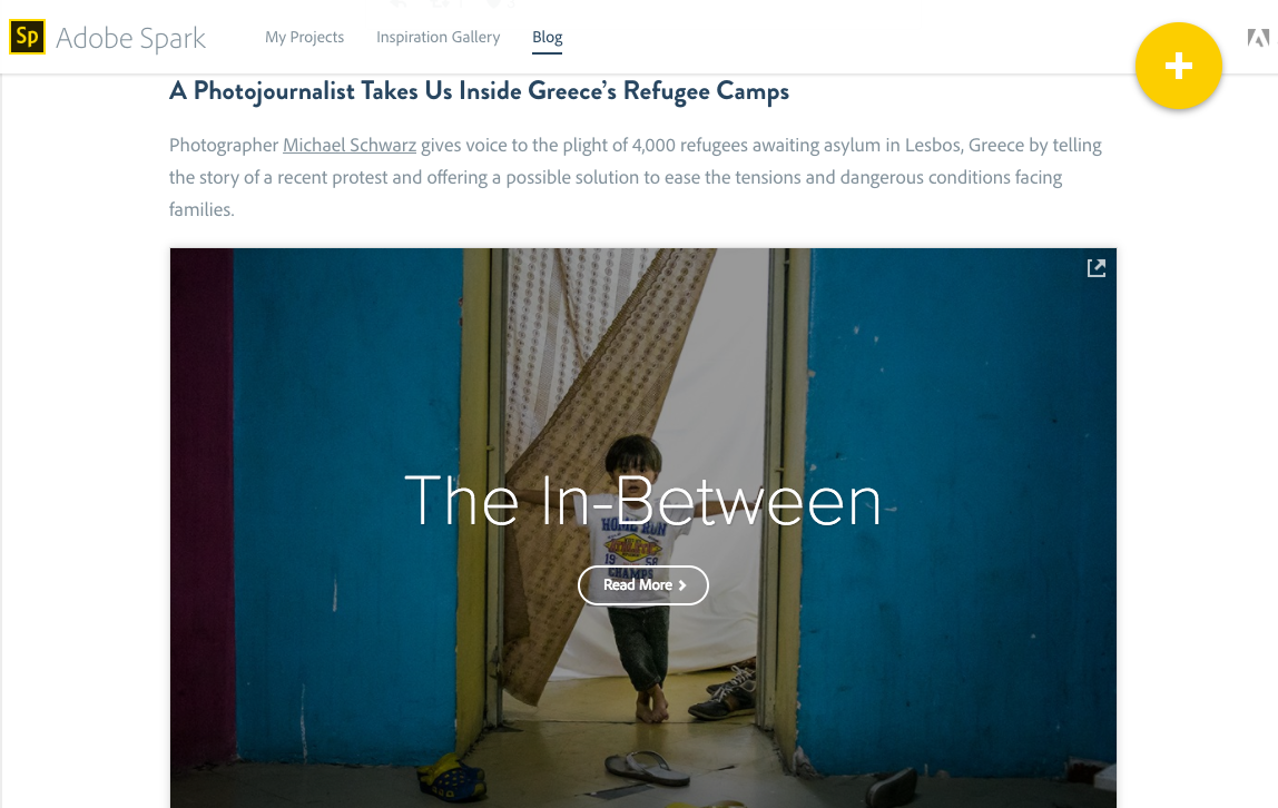 """Adobe Spark - """"The In-Between"""" - A Refugee Story"""