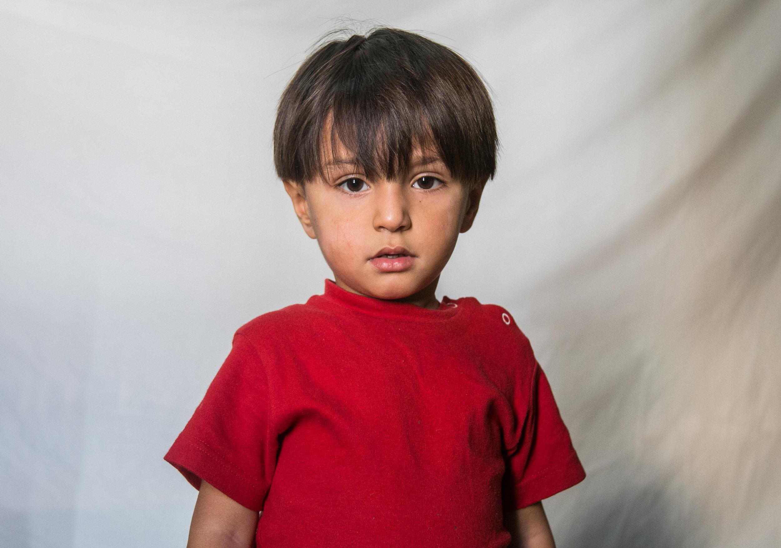 Ali Alowi, 3, of Syria