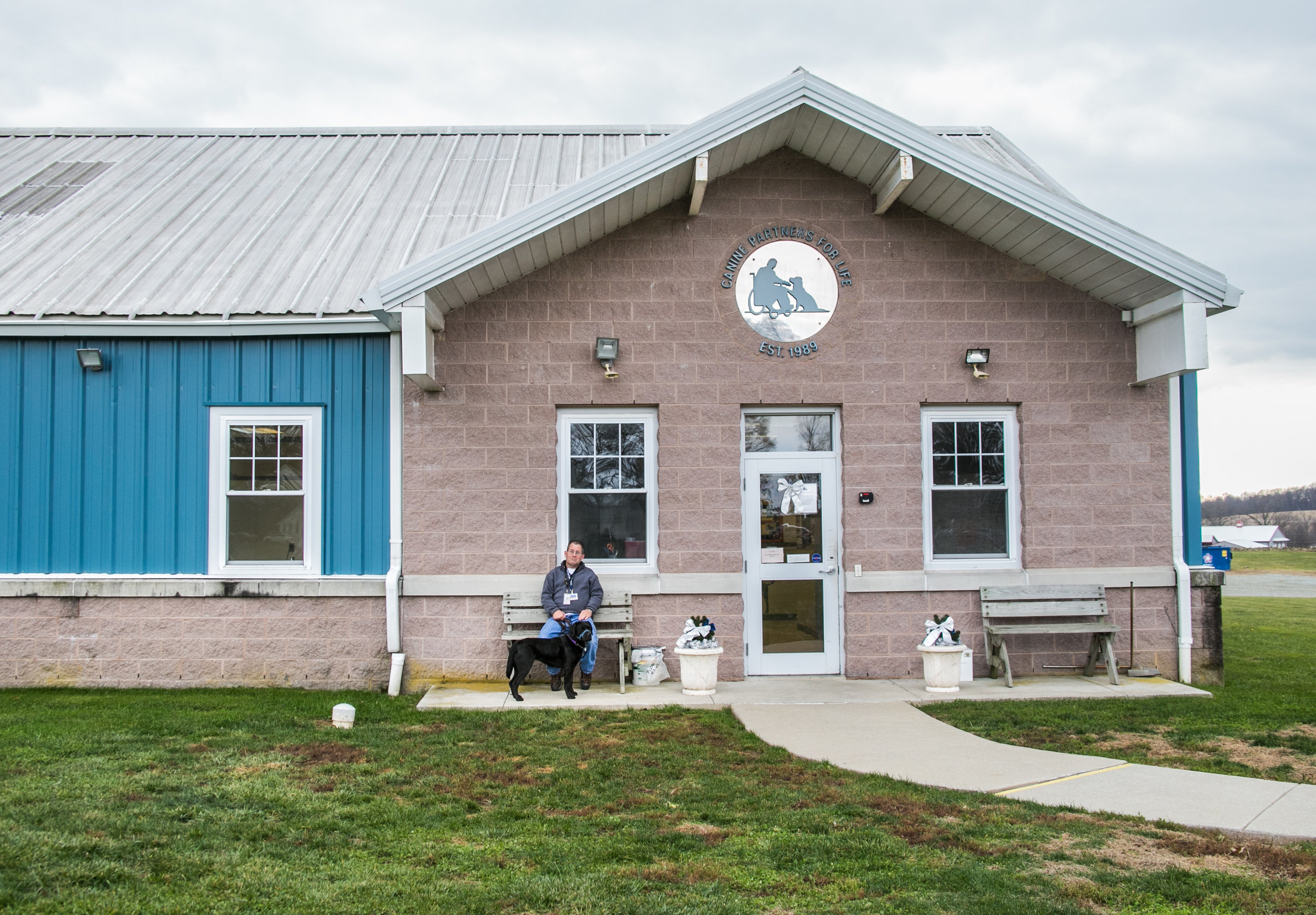 The campus of the Canine Partners for Life Headquarters in Cochranville, PA.