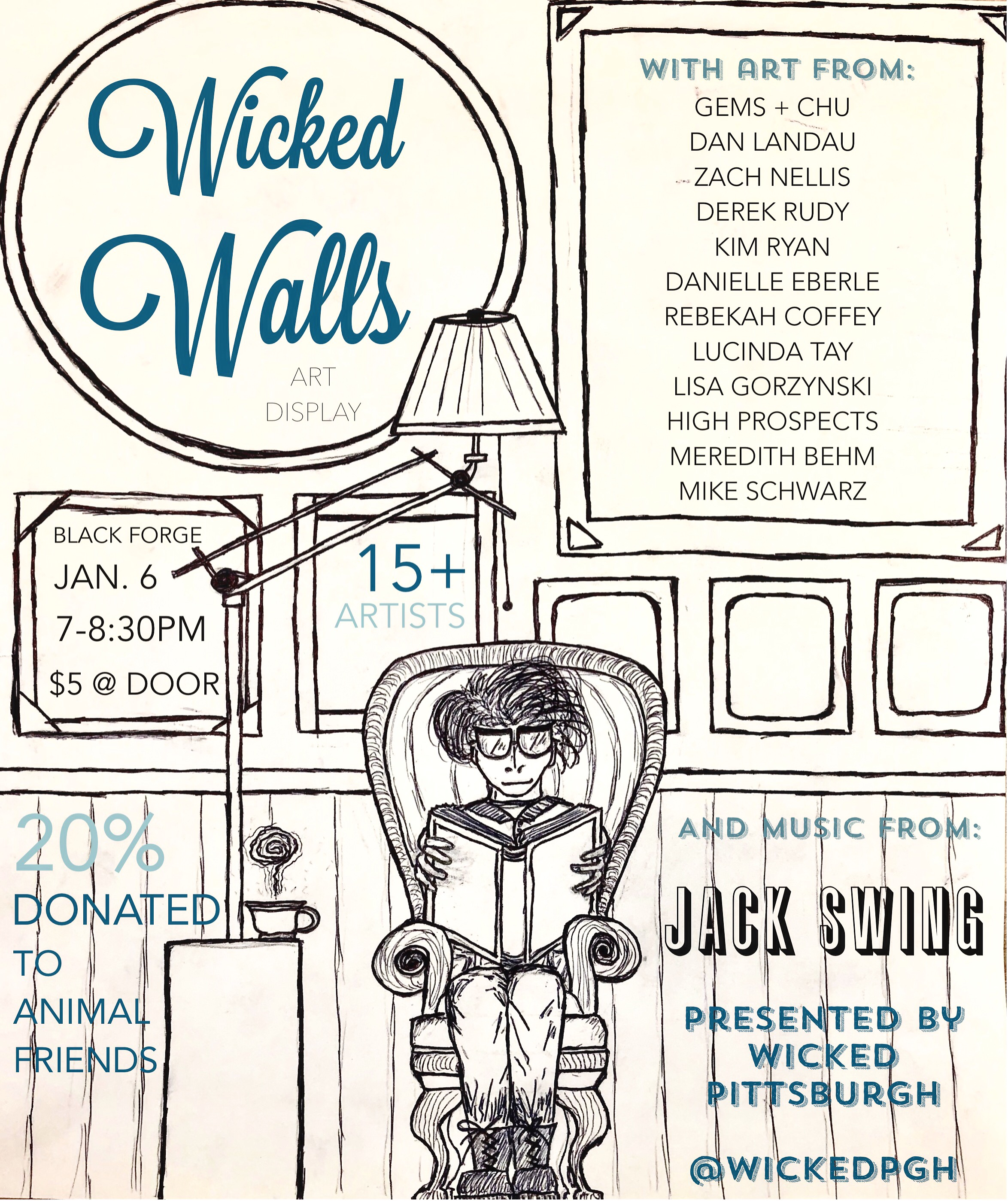 Wicked Walls Flyer Design - Black Forge