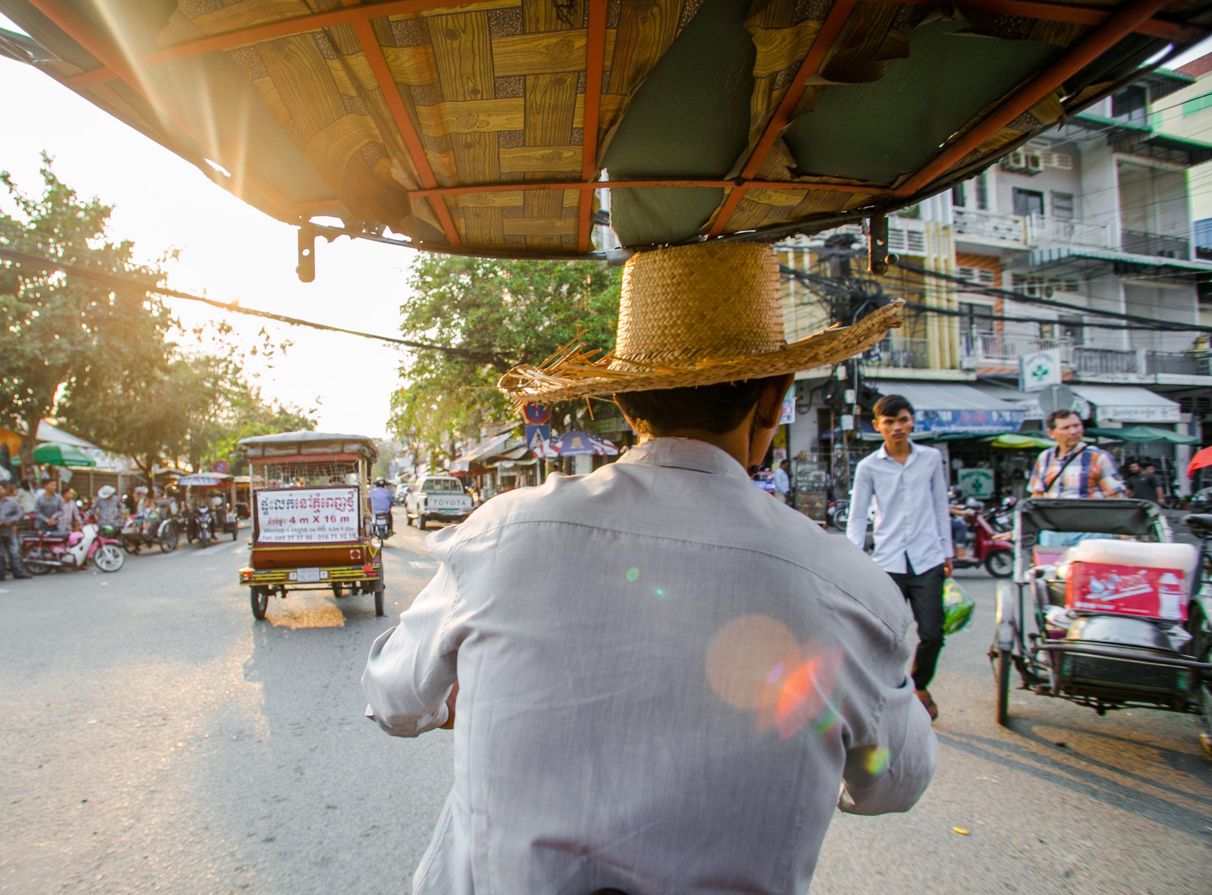 Tuk Tuk driver - Phnom Penh, Cambodia.