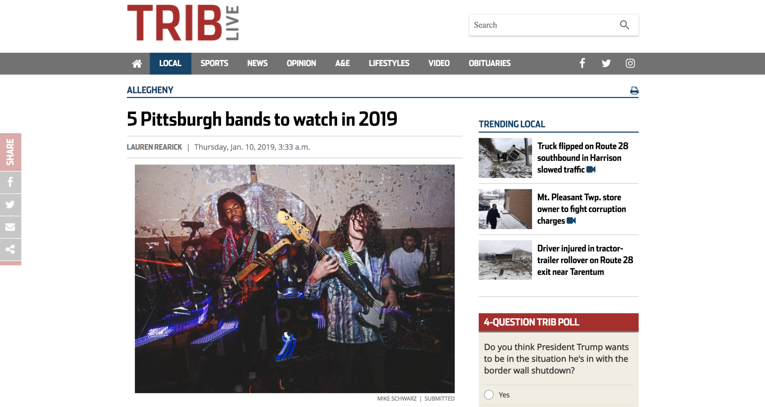 Pittsburgh Tribune Review - Jack Swing Feature