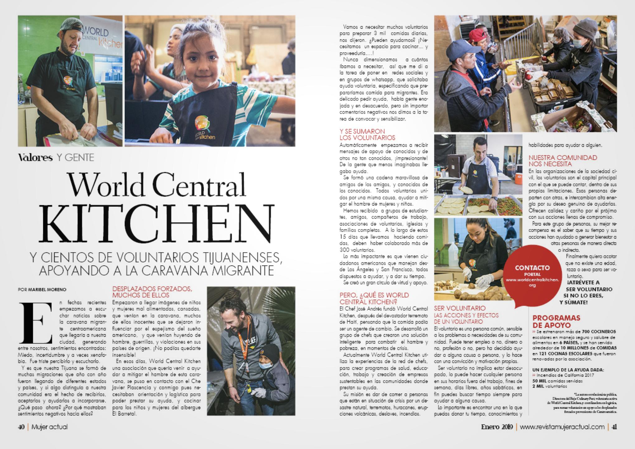 World Central Kitchen - Tijuana Border Crisis - Mujer Actual Magazine