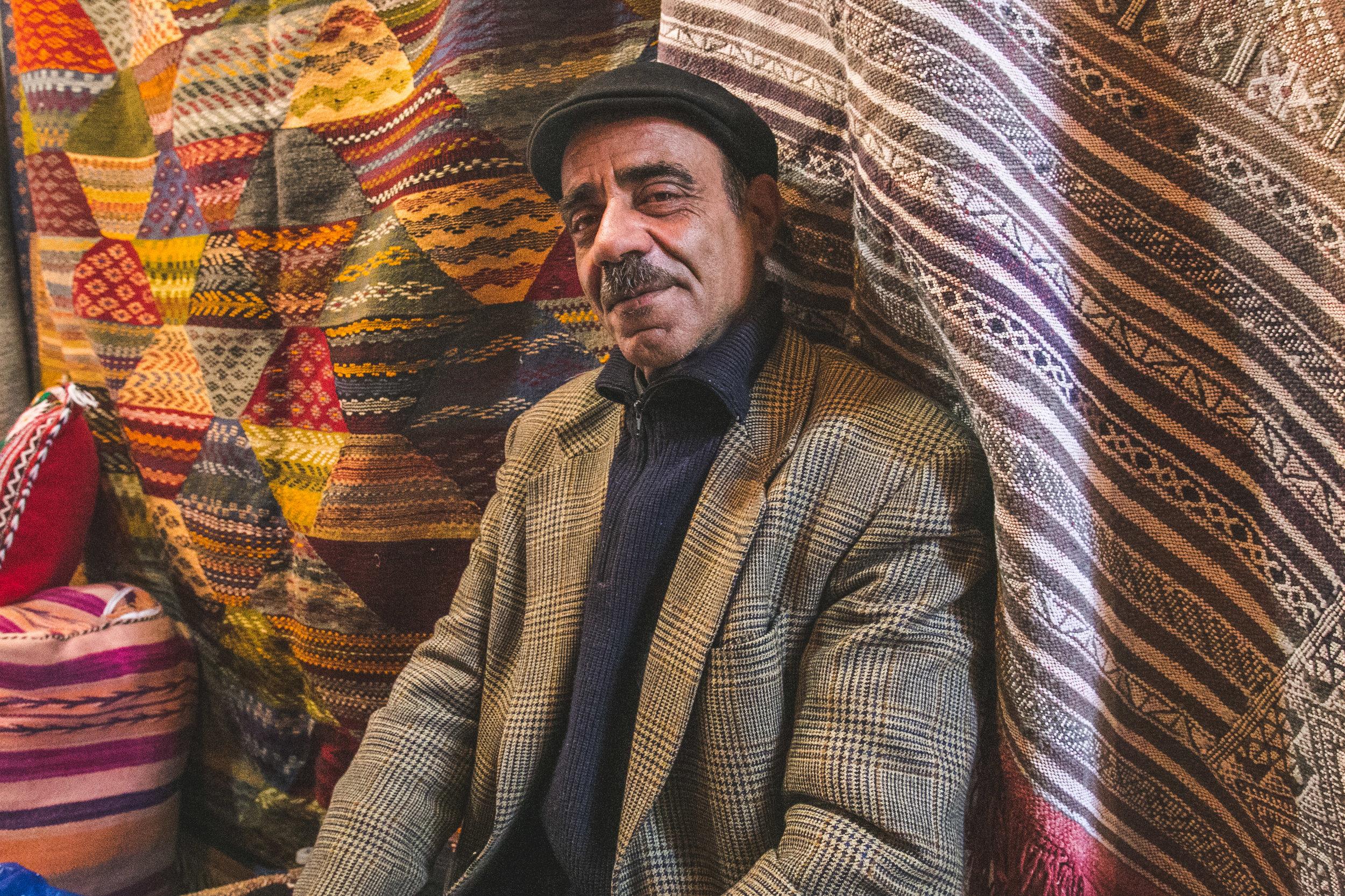 Abdoul Aziz - Carpet Salesman - Fes, Morocco