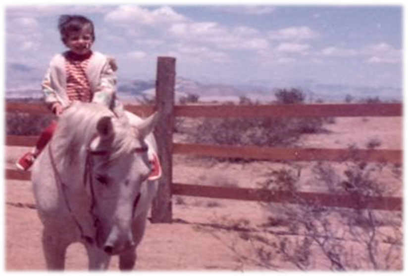 Me and Freckles, Mojave Desert circa 1972