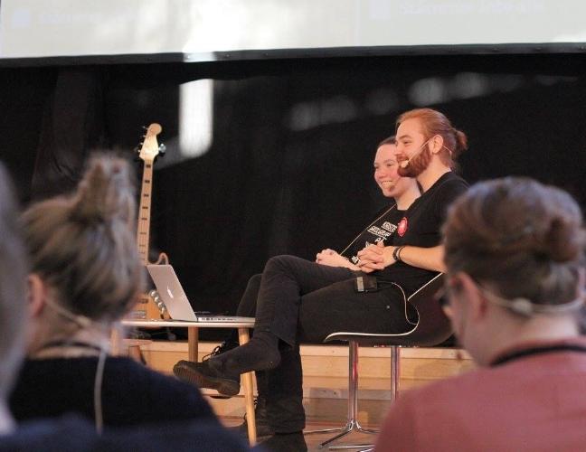 Malin (reporter) och Emanuel, LIVE-inspelning av NG-podden under ALL IN i Mullsjö!