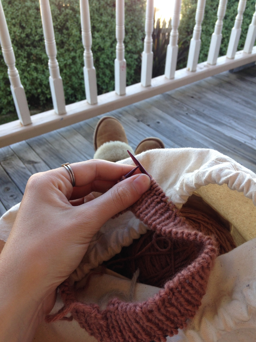 have porch, have comfy slippers, will knit
