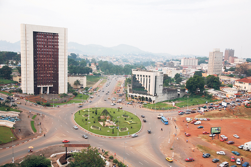 View of the roundabout on Boulevard du 20 Mai in the capital, Yaoundé (May 20 is Cameroon's National Day). Supplied