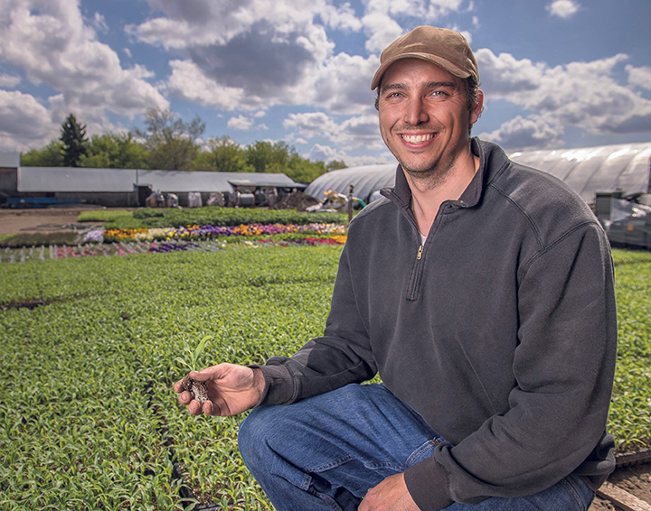 The symbiotic relationship between co-ops and their communities has yield-ed a number of benefits, says Dan Erlandson of Spring Creek Gardens, who has been able to increase his production substantially as a result. SUPPLIED