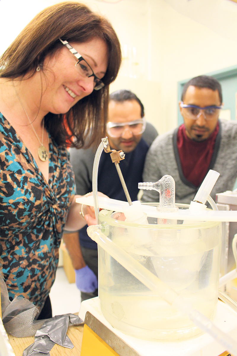As well as conducting research on the transport of contaminants in groundwater systems, Dr. Sarah Dickson of McMaster University heads up a collaborative graduate program that adopts an interdisciplinary approach to global water issues. Adam Moniz, Moniz Photography