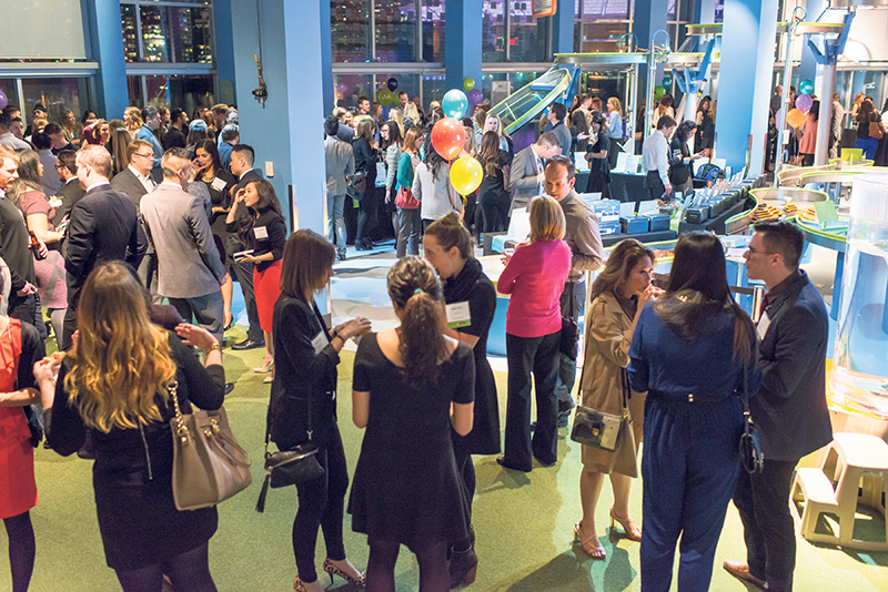 Students mingle with industry representatives at 'Schmoozapalooza,' an annual BCIT school of business networking event. BCIT\Scott McAlpine